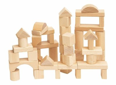 50 bouwblokken naturel