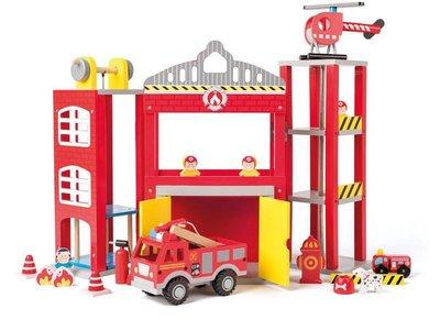 Brandweerkazerne met accessoires